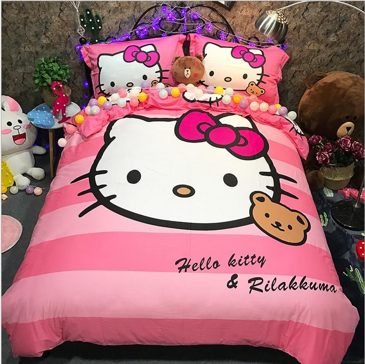 Mode Belle Maison Textiles Literie Bonjour Kitty Enfant Kid Literie