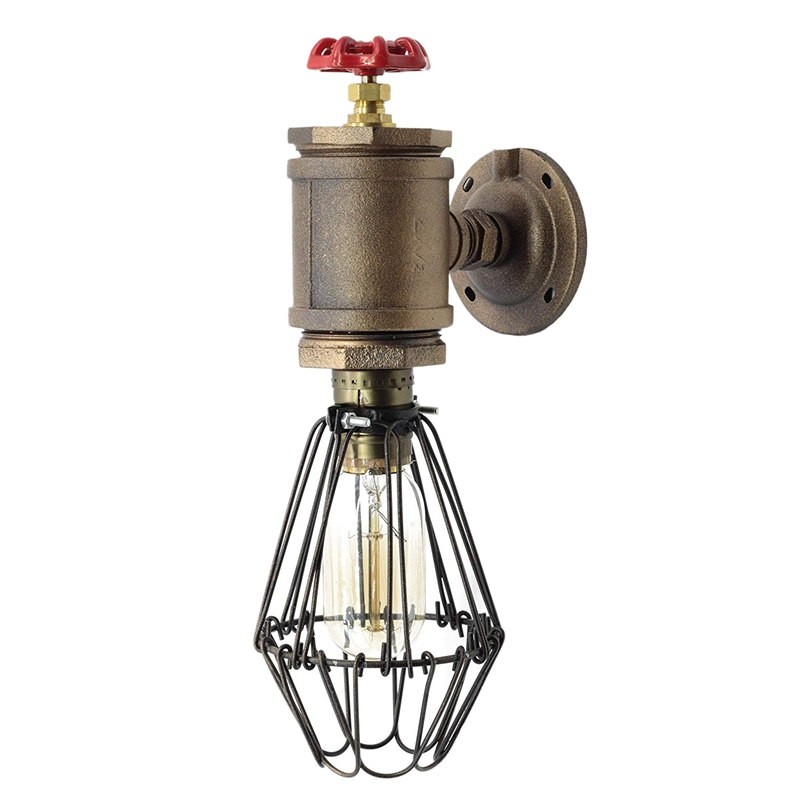 Loft Style SconceOld Bill, Wall Mounted Lamp With Cage, Steam Punk, Industrial LightLoft Style SconceOld Bill, Wall Mounted Lamp With Cage, Steam Punk, Industrial Light