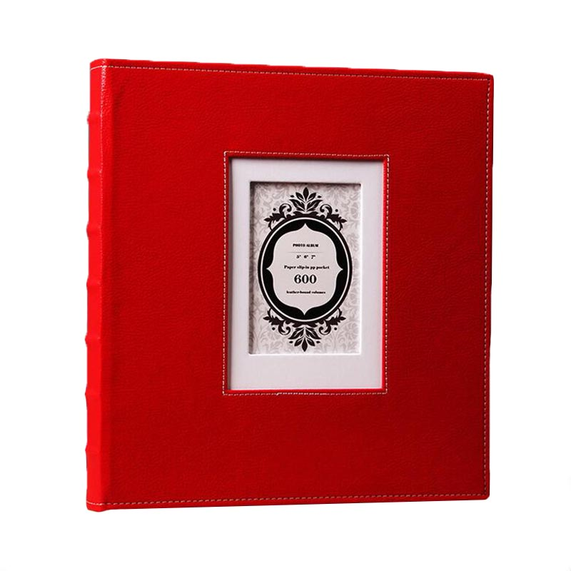 Nouveau 600 5/6/7 pouces insérer Album Rétro PU Cuir À La Main bricolage Albums De Mariage Photo Collection Album mémoire album cadeaux