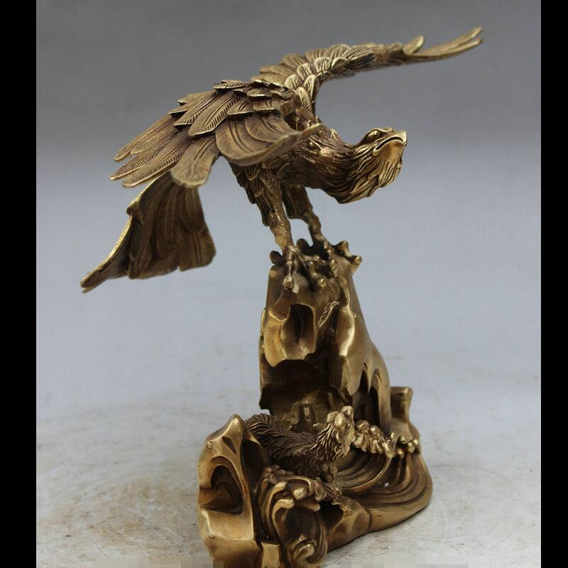 Zhaorui48843284 + + 14 Brass Cinese Decorazione FengShui Fly Ala Eagle Hawk lanneret Orso StatuaZhaorui48843284 + + 14 Brass Cinese Decorazione FengShui Fly Ala Eagle Hawk lanneret Orso Statua