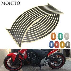 Motorcycle Wheel Sticker Reflective Decals Rim Tape Strip For Honda MSX 125 CB650R CB125R XADV X ADV 750 X11 ST1300 Accessories(China)