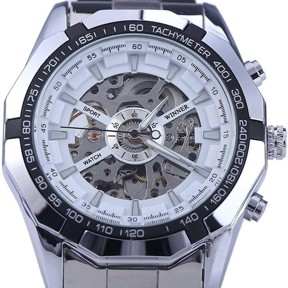 גברים חלול אוטומטי מכאני שעון שעון צמיד אבזם נירוסטה עלות Creative שעון יוקרה מותג Reloj Mujer