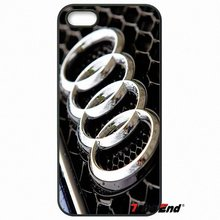 For iPhone 4 4S 5 5C SE 6 6S 7 Plus Samsung Galaxy Grand Core Prime Alpha Fashion Audi Car RS Logo Mobile Phone Case Cover