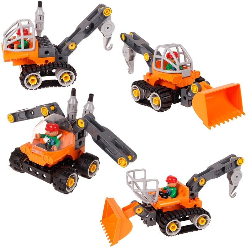 Blok Bangunan Kreatif Kereta Set 5 dalam 1 Trak Kejuruteraan - Mainan pembinaan - Foto 2
