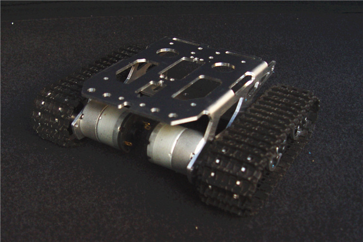 SN2400 aluminium alloy metal Smart ROBOT chassis tank crawler track robot chassis BIG platform