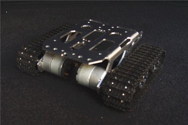 SN2400 aleación de aluminio de metal Inteligente ROBOT chasis del tanque oruga robot plataforma de chasis GRANDE