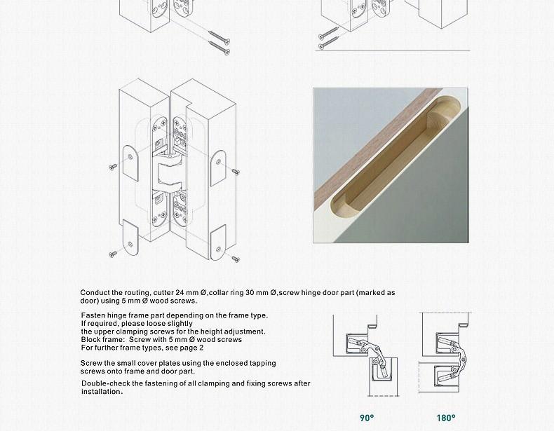 Meticulous Three Dimensional Adjustable Concealed Hinges Cross co ...