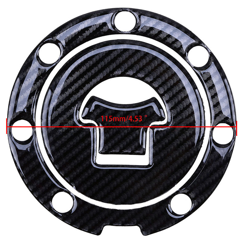 Black Car Carbon Fiber Sticker Protection Universal Tankpad Protector For Yamaha Honda SUZUKI Motorcycle Fuel Tank Cover Sticker