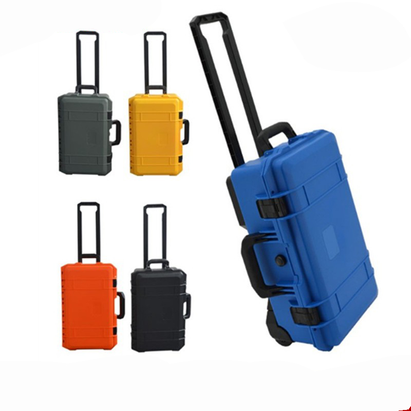 Trolley Case Instrument Box Moisture-proof Waterproof Sealed Safety Box Equipment Camera Case With Pre-cut Foam