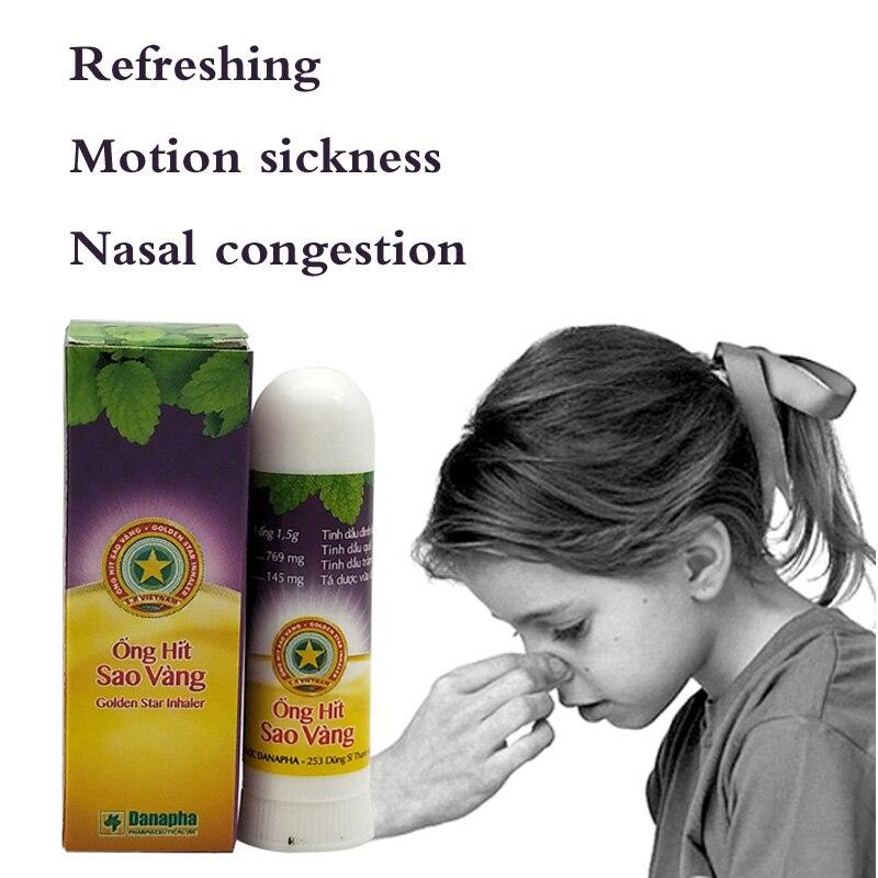 Image 2 - Golden Star Herbal Nasal Inhaler Stick Mint Cylinder treament Asthma Nasal congestion headache Refreshing Aroma Stick Inhaler-in Patches from Beauty & Health