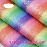10pcs 20x22cm High Quality Glitter Rainbow Leather Synthetic Leather Faux Leather