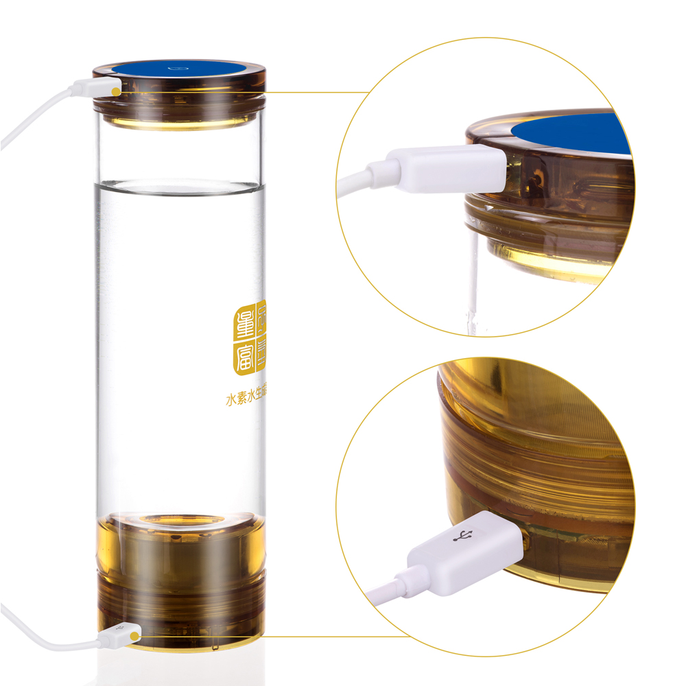 implanted quantum Hydrogen rich generator bottle water ionizer Anti-Aging H2 Drinking water Wireless transmission factory glass