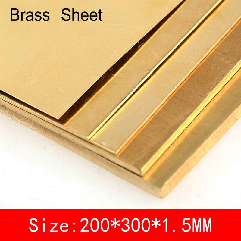 200*300*1.5mm Brass Sheet copper Plate of CuZn40 2.036 CW509N C28000 C3712 H62 Customized Size Laser CNC Cutting
