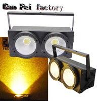 2pcs/lot 2x100W COB High Quality COB LED Par Light White + Warm white 100w cob LED Par Can light for disco stage bar club