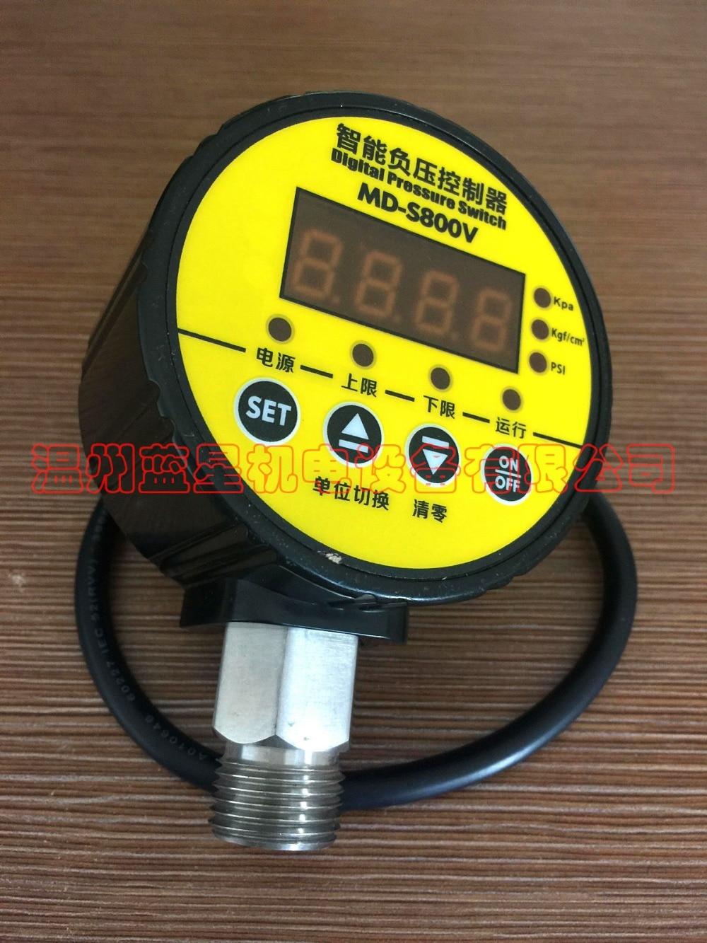 все цены на  Digital pressure controller  pressure switch  vacuum table negative  MD-S800V AC220V  G1/2  M20X1.5  G1/4  M14X1.5  онлайн