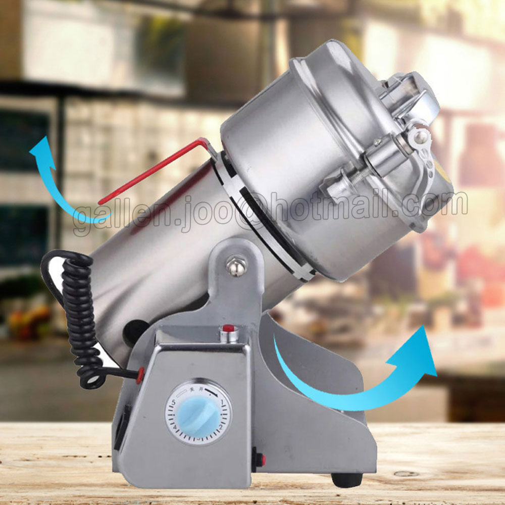 220V/110V Swing Grinder Portable Spice Small Food Flour Mill Grain Powder Machine Coffee Soybean Grinding Pulverizer 1000g swing food grinder milling machine small superfine powder machine for coffee soybean herb sauce grain crops