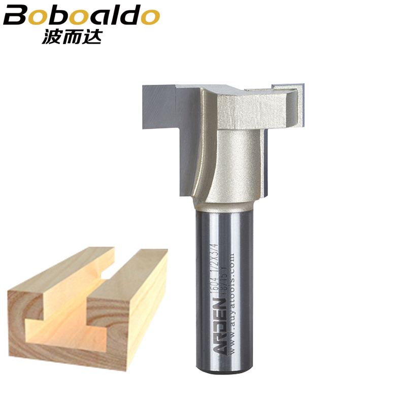 1pcs 1/2 SHK Fresas Para Router Straight T-Slot T-Track Arden Router bit T Track Staight Bits Keyhole Bits Wood Cutters tungsten alloy steel woodworking router bit buddha beads ball knife beads tools fresas para cnc freze ucu wooden beads drill