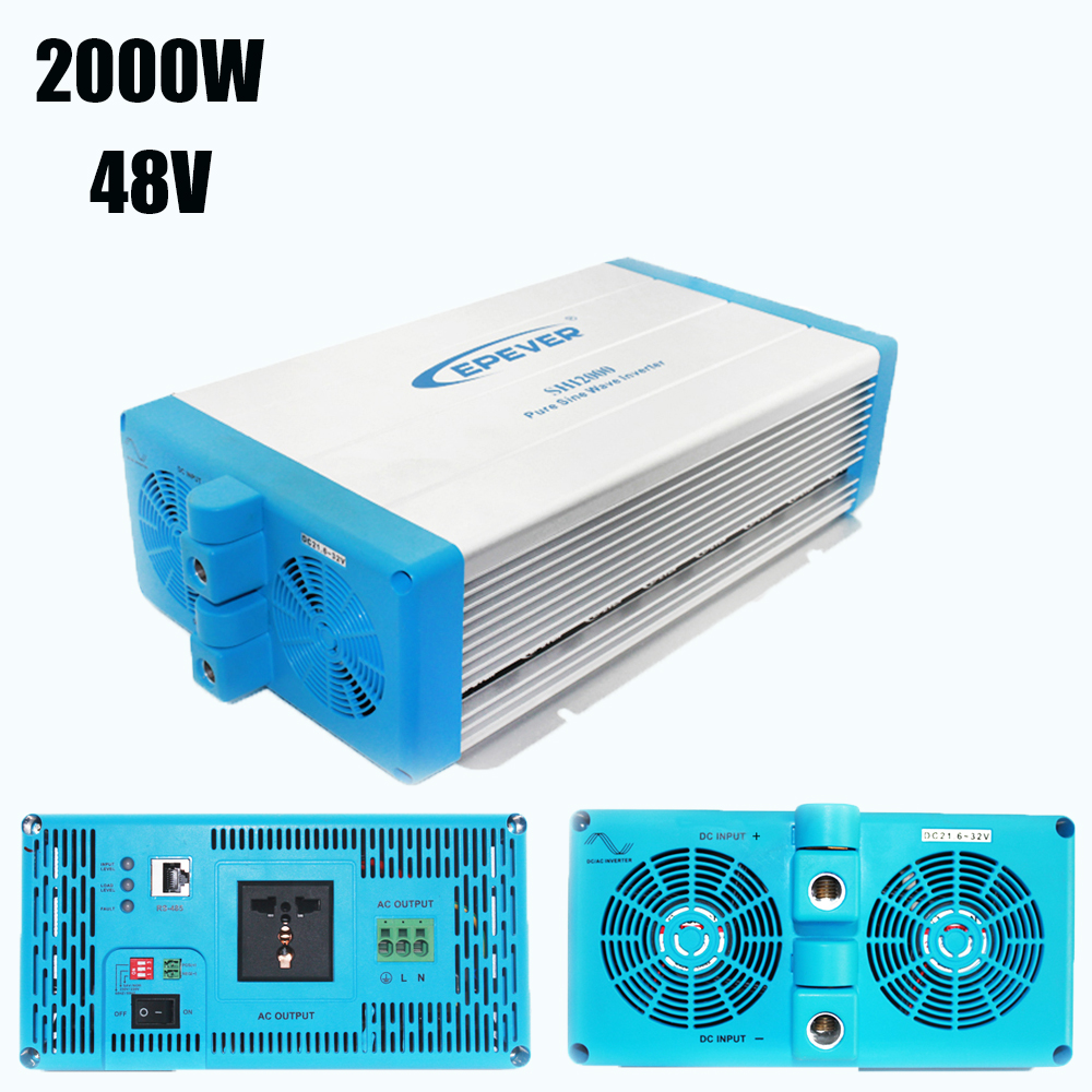 48V 2000W Off Grid Inverter Pure Sine Wave EPsolar SHI2000-42 with Optional Energy Saving Mode for Household Appliances New off grid inverter pure sine wave 3000 watt 48v 220v epsolar energy saving ac to dc converter with extensive protections