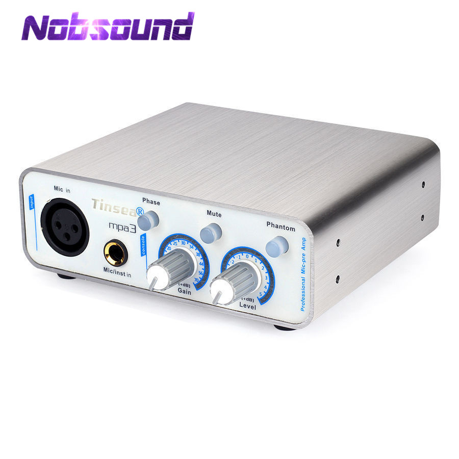 Nobsound Mini Microphone Preamplifier Full Balance XLR MIC PreAmp Recording Sound Live Webcast
