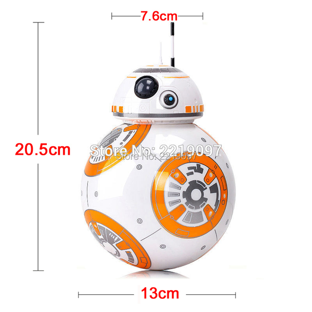 Free Shipping BB-8 Ball Star Wars RC Action Figure BB 8 Droid Robot 2.4G Remote Control Intelligent Robot BB8 Model Kid Toy Gift
