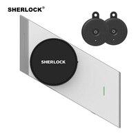 Sherlock Parmak İzi + Şifre akıllı kapı kilidi kablosuz bluetooth Entegre Elektronik Kilidi App Telefonu Contorl Ekle 2 Adet S2 Anahtar