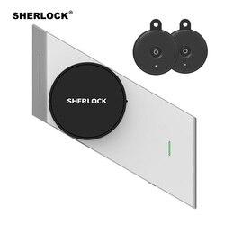 Sherlock huella + contraseña inteligente cerradura de puerta inalámbrico integrado Bluetooth cerradura electrónica App de teléfono Contorl añadir 2 piezas S2 clave