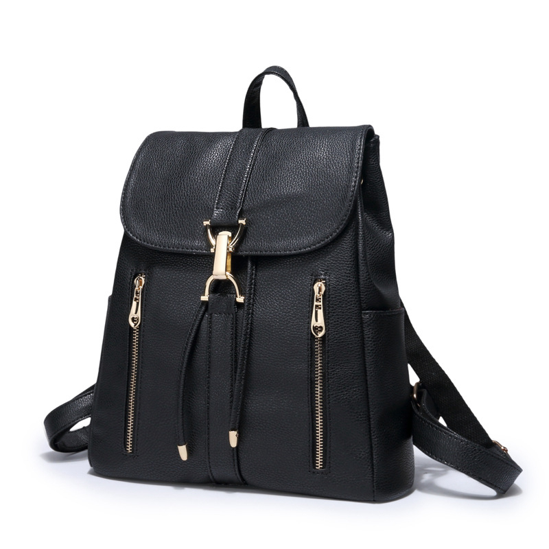 PASTE Fashion Top PU Leather Backpack Women Bags Preppy Style Backpack Girls School Bags Zipper Shoulder Women's Back Pack Bags nawo fashion genuine leather backpack rivet women bags preppy style backpack girls school bags zipper large women s backpack sac