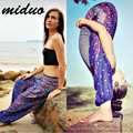 Miduo Digital printing lanterns men and women through pants loose national wind Thai yoga trousers