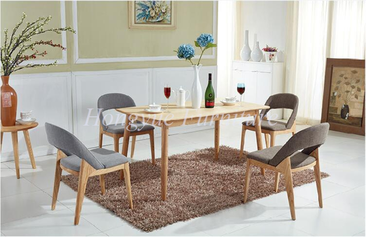 Natural Oak Wood Furniture Set For Dining Room