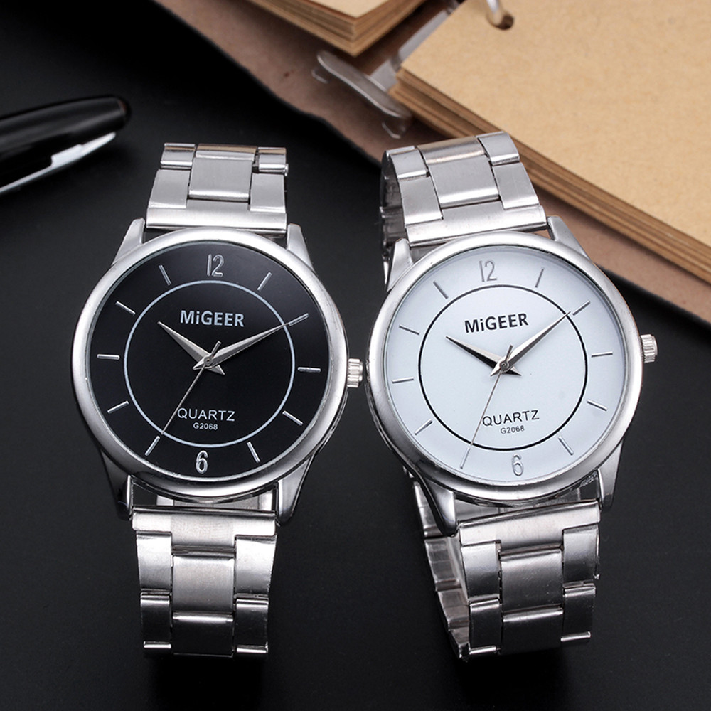 Simple Design Fashion Man Glass Stainless Steel Watch Band Analog Quartz Wrist Watch Xfcs Saat Relogio Reloj Montre Gift