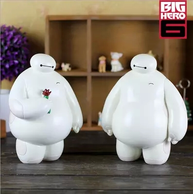 New Big Hero 6 Action Figure Baymax Ceramic Money Box 1pc