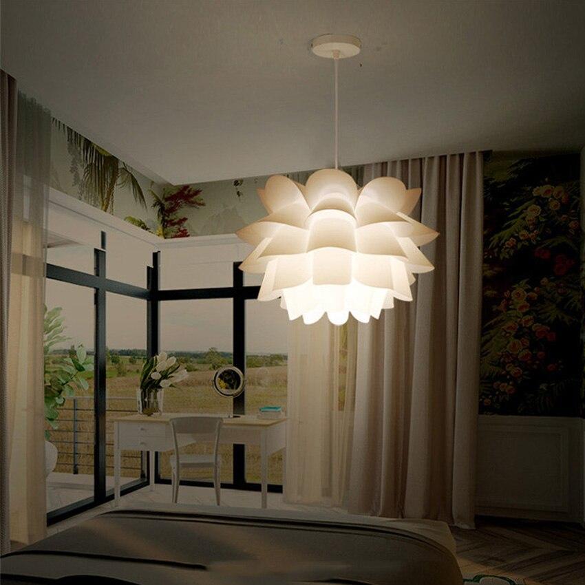 DIY Kreative Lotus Blumen Pendelleuchte Moderne Kurze Schlafzimmer Wohnzimmer Restaurant Pendelleuchten Studie Flur Hngen Lampe