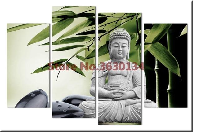 Religion Buddha 4Pcs full square diy diamond painting cross stitch kits Diamond mosaic 5d diamond painting