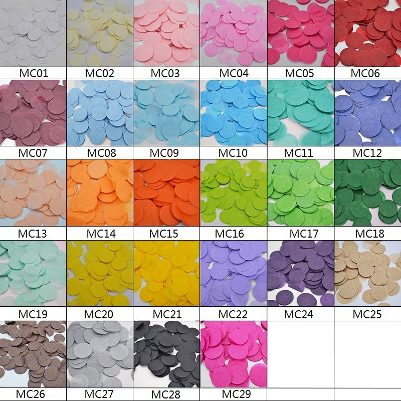 4000pcs/bag Round Mini 1cm Tissue Paper Confetti Birthday Party Decor Wedding Sprinkles Table Scatter Pinata Fillers