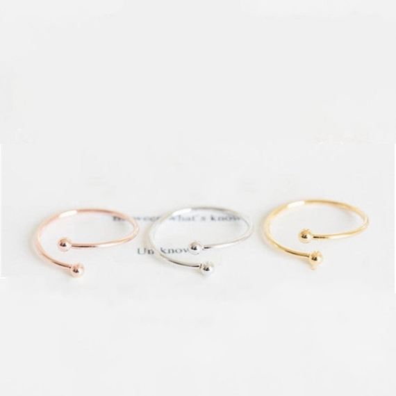 Simple Classy Rose Gold Plated Open Toe Rings