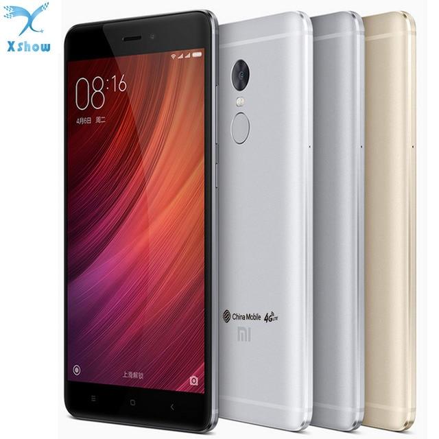 """100% Оригинальный Xiaomi Redmi Note 4 MTK helio X20 4 ГБ Оперативная память 64 ГБ Встроенная память Дека Core 5.5 """"1080 P Miui 8 отпечатков пальцев ID note4 4 г FDD LTE"""
