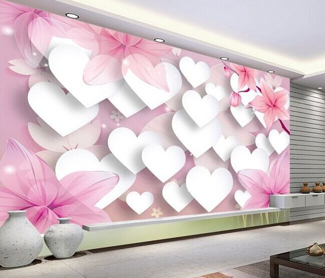 Romantic Love 3d Tv Background Wallpaper The Living Room Sofa