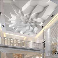 Beibehang grande personalizado papel de parede murais 3d branco poligonal tijolo parede do teto infantil