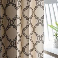 Hot Sale Lantern Print Line Cotton Blinds Shading Window Curtains High Quality Black Out Red Curtain