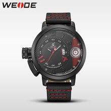 WEIDE watches brand luxury men quartz sports wrist watch casual genuine water resistant analog leather men's automatic watch недорого