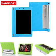 Silicone case for Lenovo Yoga Tablet 2 8.0 cover for Lenovo 830F protective soft rubber tablet case coque para df lsteel 07 для lenovo yoga tablet 8 прозрачная