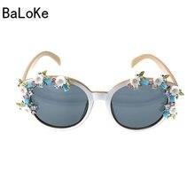 261a717bcfa 2018 European Style Brand Designer Elegant Retro Baroque Women Sunglasses  Square White Frame Flowers Decoration Summer Eyewear