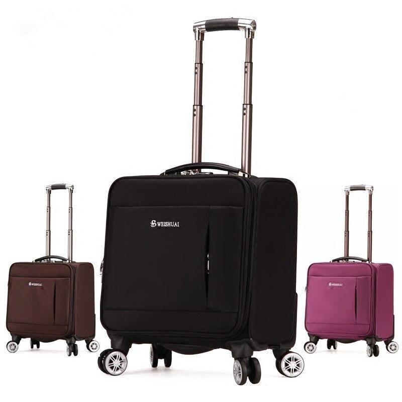 18 дюйм(ов) модные коммерческий Универсальный колеса тележки для багажа чашку маленький портативный Коробка