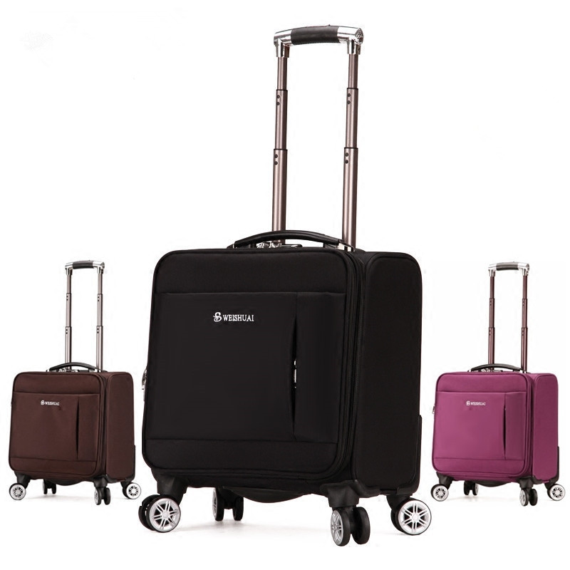 18 inches fashion commercial universal wheels trolley luggage boarding small portable the box