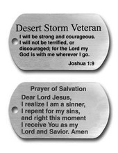Wholesale  Stainless Steel Dog tag hot sales Desert Storm Veteran Tag pendants Necklace FH890380