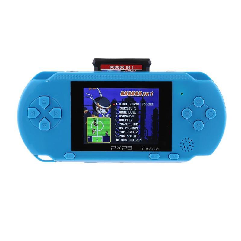 NOUVEAU Dernières 16-peu Console avec 1 GO D'espace De Stockage PXP3 PVP Joueur De Jeu De Poche Console de Jeu Vidéo avec 2 Carte de jeu