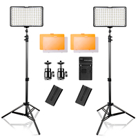 Travor 2 in 1 Led Video Light 3200/5500K Camera Light Kit for Canon Nikon Sony DSLR Camera and Camcorder with carry case
