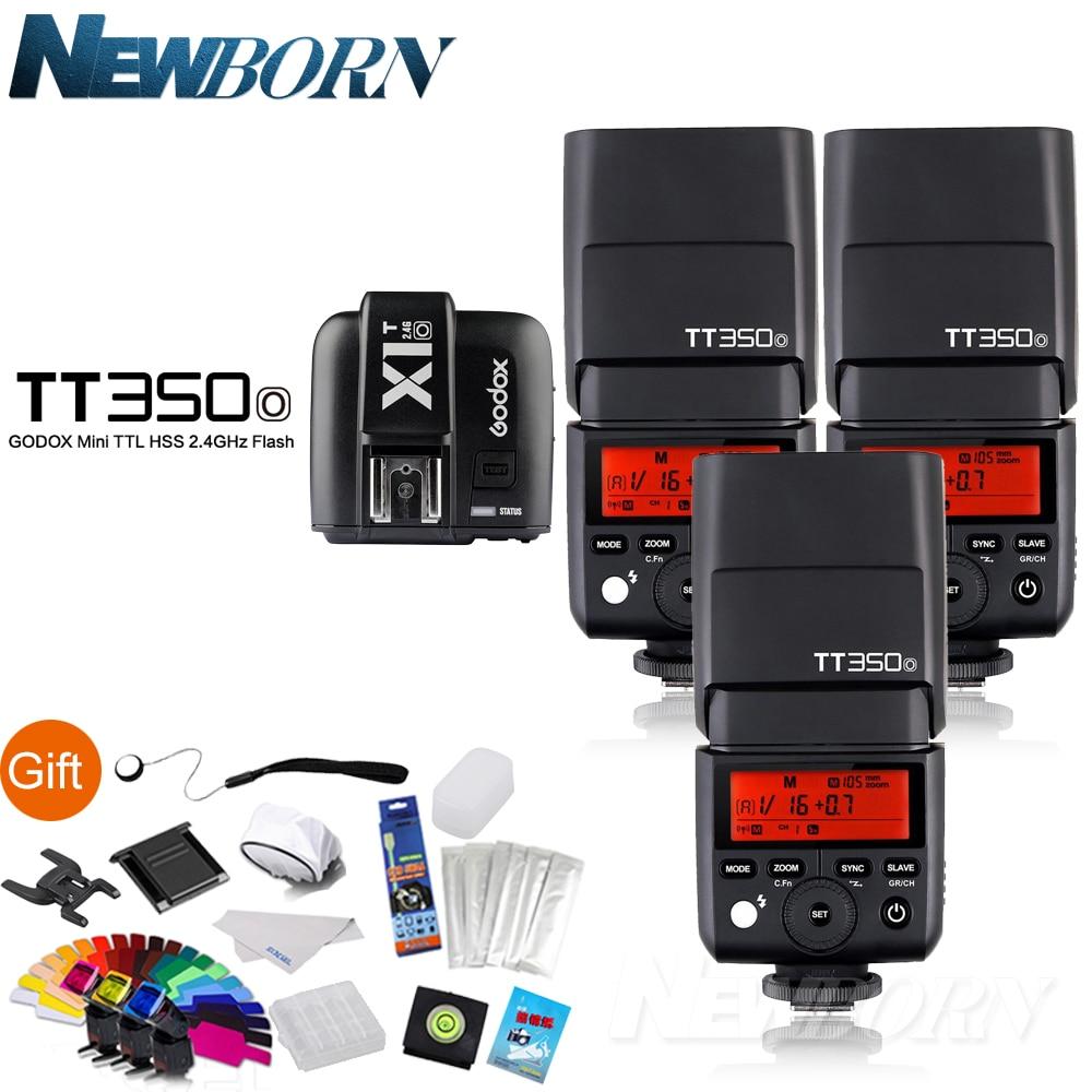 Godox Flash Speedlite 3*TT350O Camera Flash TTL HSS GN36+X1T-O Flash Trigger for Olympus/Panasonic  DSLR Camera