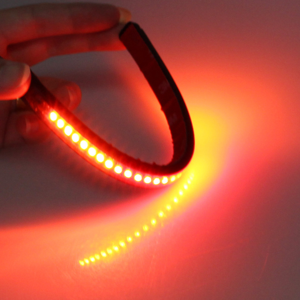 Universal flexible 32led motorcycle light strip tail brake stop turn universal flexible 32led motorcycle light strip tail brake stop turn signal light license plate lamp 8 red and amber led color on aliexpress alibaba aloadofball Choice Image