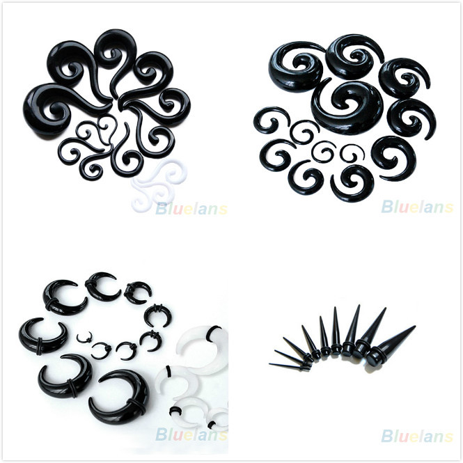 Acrylic Spiral Taper Flesh Tunnel Stretcher Expander Snail